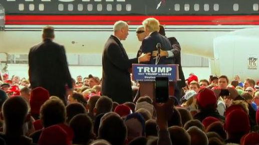 The scene at Trump's rally in Ohio Saturday. Photo: NBC