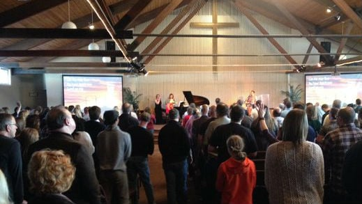 The church was packed one week after the shooting of Pastor Tim Remington.