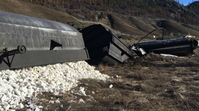 The scene of the derailment. Photo: Okanogan Emergency Management