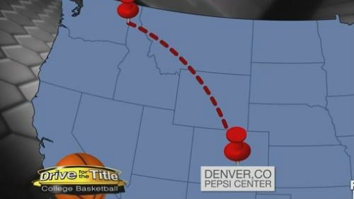 The Zags landed in Denver Tuesday.