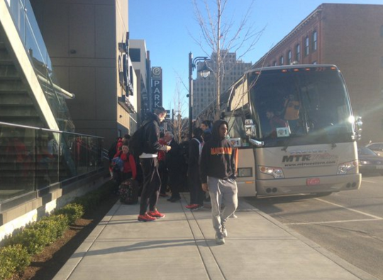Maryland arriving in Spokane Wednesday.