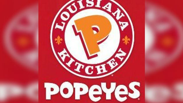 A job interview was in progress when a thief grabbed cash from the till at a fast food restaurant. The manager conducting the interview then blocked the door, and the applicant grabbed the thief's arms. Photo: Twitter/Popeyes