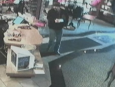 Suspected thief inside store where credit card was used