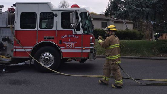 Fire crews responded to a house fire Monday.