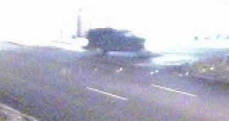 Still of suspect car taken from surveillance video