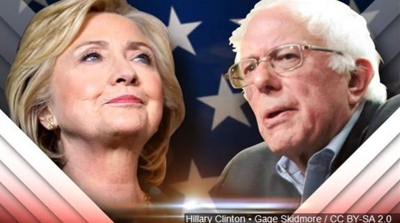 "Hillary Clinton's campaign says she had a ""positive discussion"" with Bernie Sanders about their primary campaign, the Democratic party and ""the dangerous threat that Donald Trump poses to our nation."""