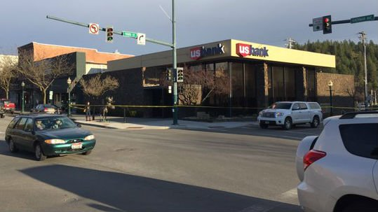 The scene of a robbery in Coeur d'Alene