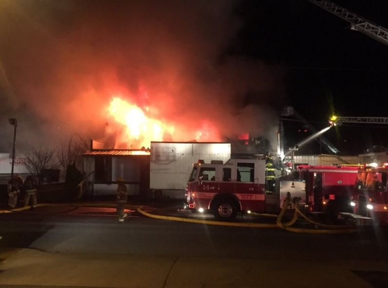The building, located on 29th and Mount Vernon, was vacated more than a year ago and waiting to be demolished when it burned down Wednesday morning.
