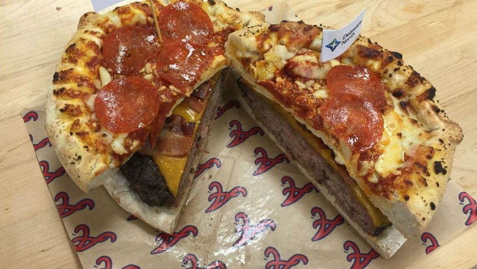 "A ""Gimme"": The Burgerizza from the Atlanta Braves"