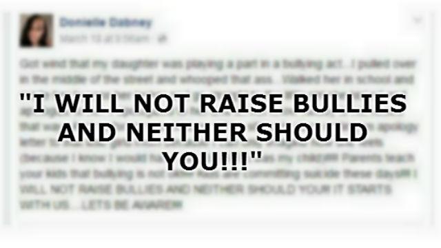 Donielle Dabney says she won't raise a bully