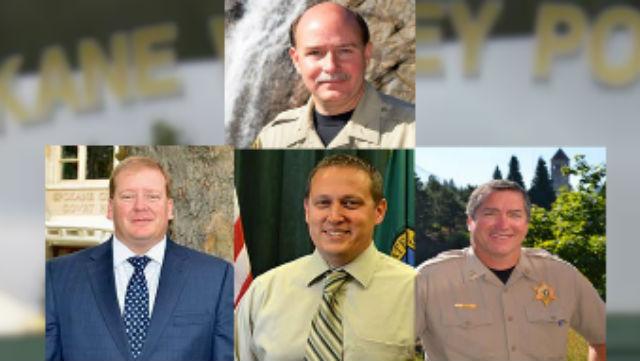 Chief Van Leuven (Top) will retire in June. Capt. John Nowells (Bottom left), Capt. Dave Ellis (Bottom Center) or Capt. Mark Werner (Bottom Right) will replace him