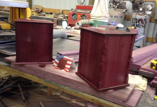 Michael Ross painstakingly makes each urn by hand.