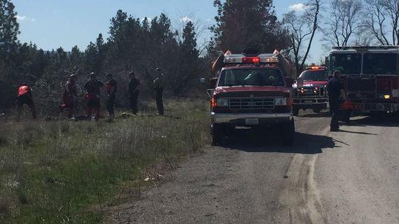 The scene of a water rescue in Spokane Valley