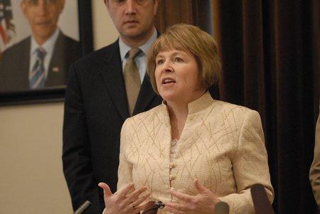 "Senate Majority Leader Lisa Brown (D-Spokane) calls budget, ""painful"" but ""responsible"". Photo Courtesy: The Spokesman-Review"