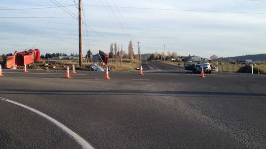 The scene of a crash at the intersection of Highway 902 and Craig Road Saturday.