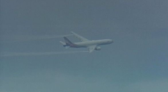 The plane dumped fuel over Puget Sound before landing