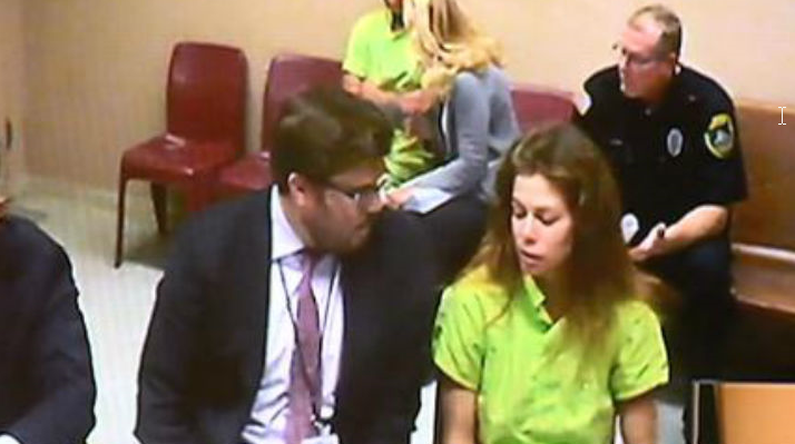 Carrah Goble appears in court following her initial arrest