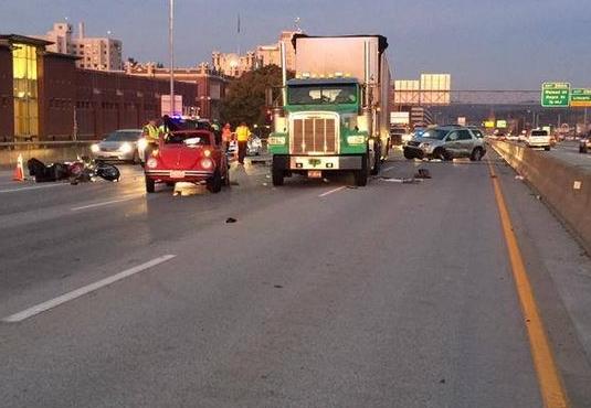 Crash on I-90 on October 6,2015