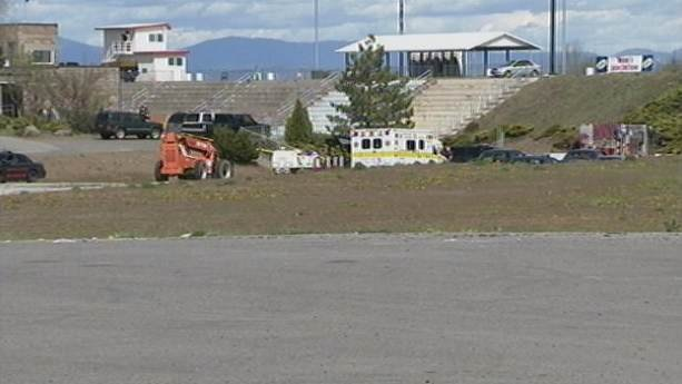 Emergency crews on scene Friday afternoon at Spokane Raceway Park