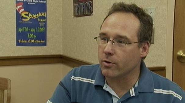 Randy Ott, a special education teacher, received a lay off notice Tuesday
