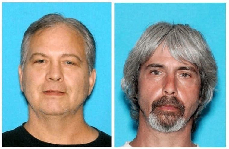 John Reed (Left) remains on the run. Tony Reed (Right) was taken into custody Monday.