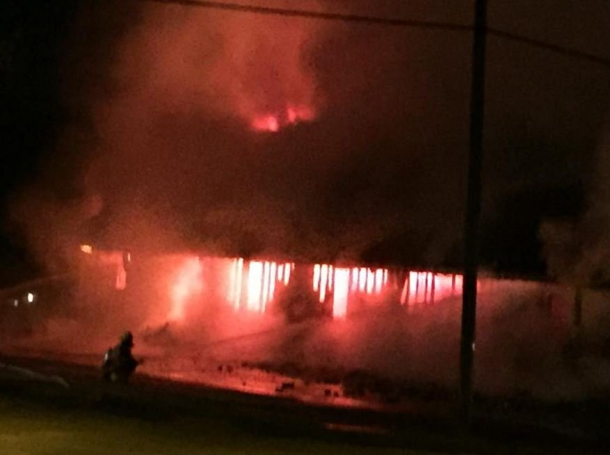 © St. Ann's Catholic Church erupts in flames following explosion
