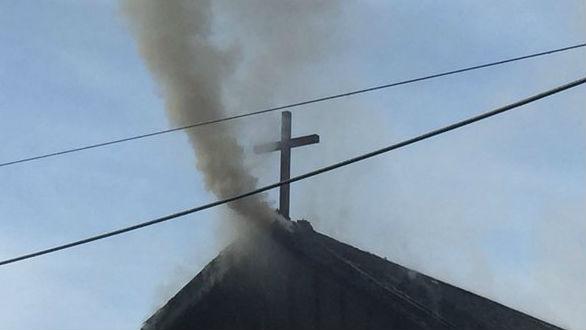 Fire destroys St. Ann's church in Bonners Ferry.