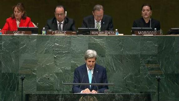 John Kerry speaks at the UN. Photo: NBC