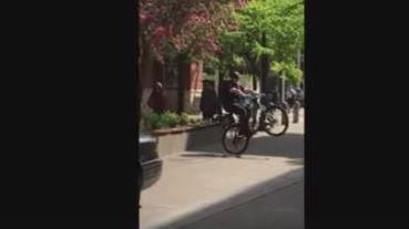 Officer Casey Jones has got skills. Photo/Video: City of Spokane Police Department