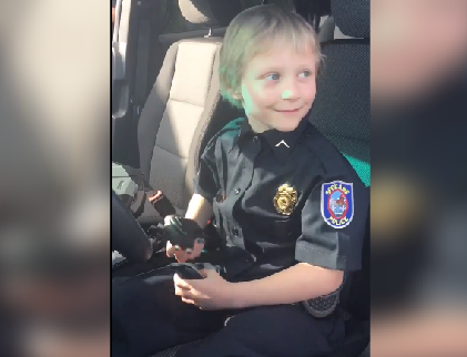 Sierra Shank became a hero for a day with the help of the Make-A-Wish Foundation and the SPD.