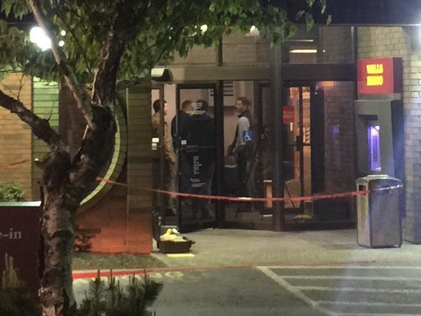 The FBI is investigating a shooting at a Wells Fargo bank in North Spokane.