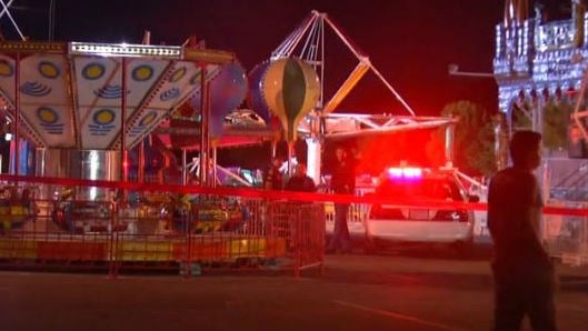One teenage girl has been killed and another is injured after they were ejected from a whirling ride at an El Paso church carnival. PHOTO: NBC