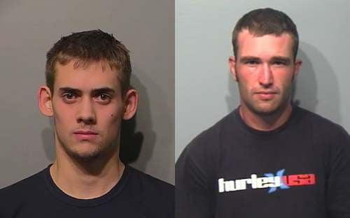 Jake Smith (left) turned himself in Tuesday, Police are still searching for Eli Skalak (right)