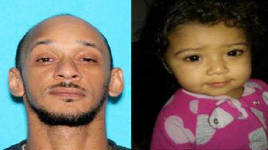 Police say Anthony Burton (Left) took 15-month-old A-Yana Burton on Sunday and hasn't been seen since.