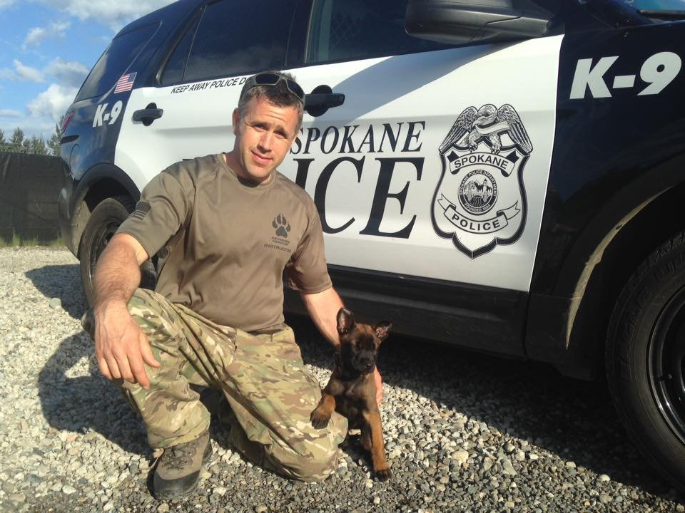 Dietz is a Belgian Malinois puppy being trained by Officer Craig Hamilton. (Photo: SPD)