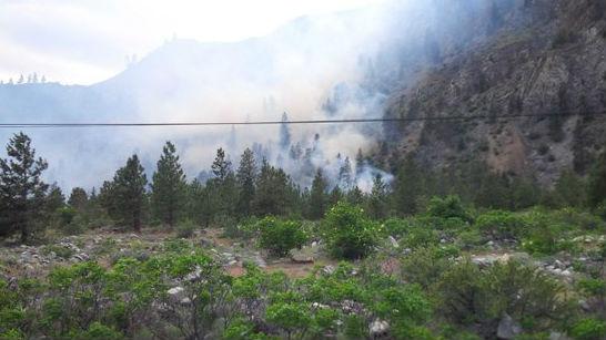 Ribbon Cliff fire. Photo: Trooper J Bryant/Twitter