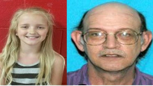 Carlie Trent and her alleged abductor Gary Simpson. If you see them, call 911.