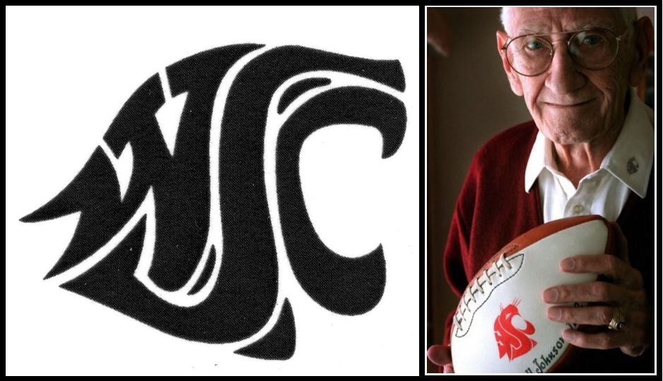 © Randall Johnson was a student at Washington State College, as it was called at the time, when he created WSU's logo back in 1936. (Photo Credit: Spokesman Review)