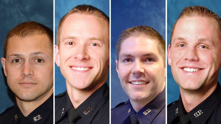 L to R: Officers Brandon Fabian, Nate Gobble, Jeremy Howe and Scott Lesser