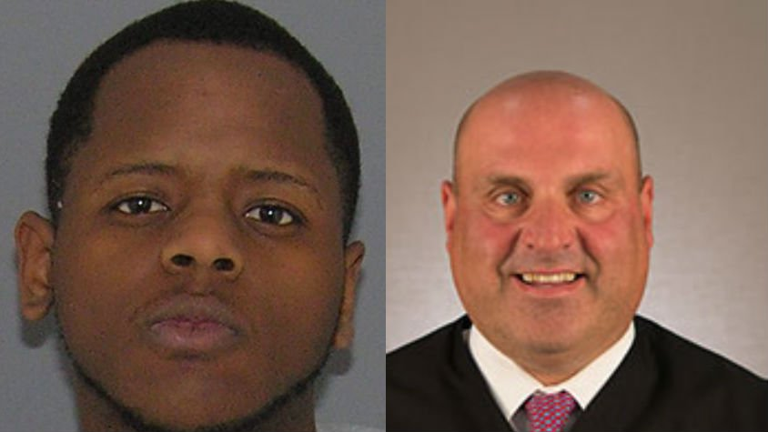 Darius Dabney (Left, Photo: Hamilton Co. Jail) and Judge Bernie (Right, PHOTO: Hamilton County, Ohio)