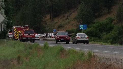 The scene of the crash Saturday.