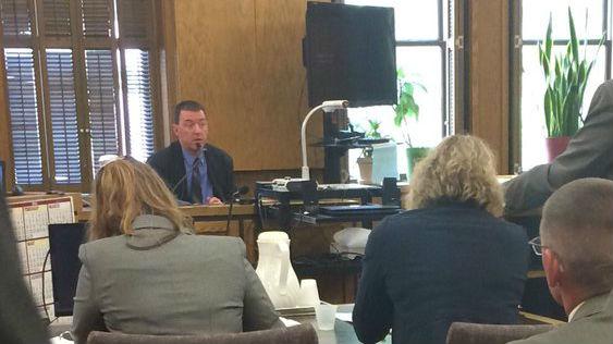 Sgt. John Gately in court Monday.