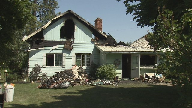 Fire guts a home in Medical Lake