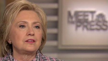Hillary Clinton on Meet the Press. Photo: NBC