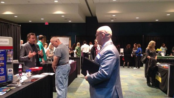 An estimated 1,400 people showed up to Wednesday's job fair.