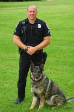 SPD K-9 Officer Daniel Lesser and 'Var'