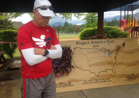 Mike Ehredt will put down a flag every mile in honor of a fallen soldier.