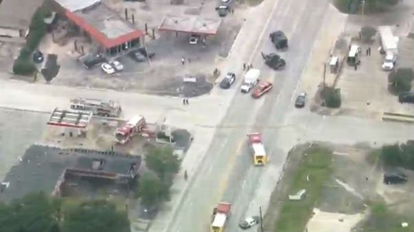 The scene of a shooting in Houston, Texas. Photo: NBC