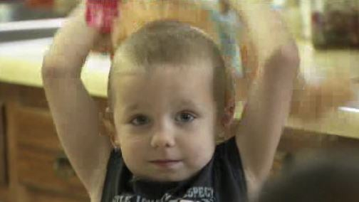 Tawnia Embree's son Gage is believed to have started the fire while playing with a lighter