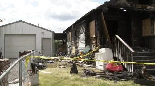What remains of Embree's home following the fire